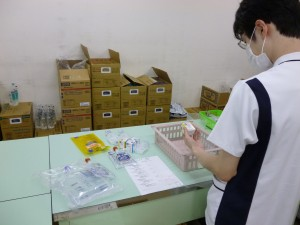 注射薬調剤業務の様子